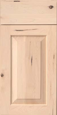 Square Raised Panel - Solid (AC6M) Rustic Maple in Parchment - Base