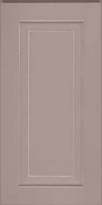Square Raised Panel - Solid (WLM) Maple in Pebble Grey w/ Coconut Glaze - Wall