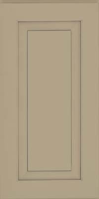 Square Raised Panel - Solid (WLM) Maple in Willow w/ Cinder Glaze - Wall