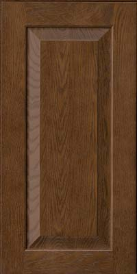 Square Raised Panel - Solid (WLO) Oak in Saddle - Wall