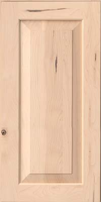 Square Raised Panel - Solid (AC6M) Rustic Maple in Parchment - Wall