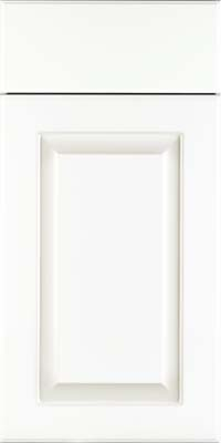 Square Raised Panel - Thermofoil (FWS) Thermofoil in White - Base