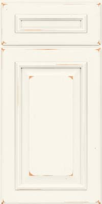 Square Raised Panel - Solid (GRC) Cherry in Vintage Dove White - Base