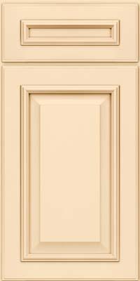 Square Raised Panel - Solid (GRM) Maple in Biscotti w/Cocoa Glaze - Base