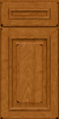 Square Raised Panel - Solid (GRM) Maple in Burnished Golden Lager - Base