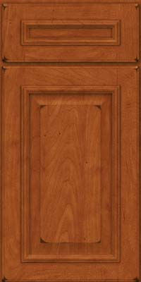 Square Raised Panel - Solid (GRM) Maple in Burnished Cinnamon - Base