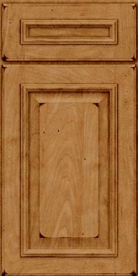 Square Raised Panel - Solid (GRM) Maple in Burnished Ginger - Base