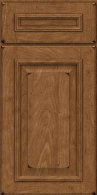 Square Raised Panel - Solid (GRM) Maple in Burnished Rye - Base