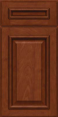 Square Raised Panel - Solid (GRM) Maple in Chestnut w/Onyx Glaze - Base
