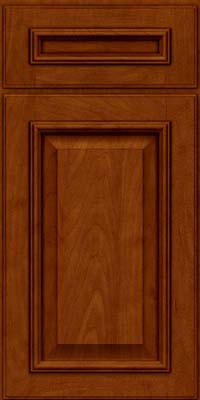 Square Raised Panel - Solid (GRM) Maple in Cinnamon w/Onyx Glaze - Base