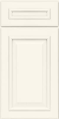 Square Raised Panel - Solid (GRM) Maple in Dove White - Base