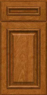 Square Raised Panel - Solid (GRM) Maple in Golden Lager - Base