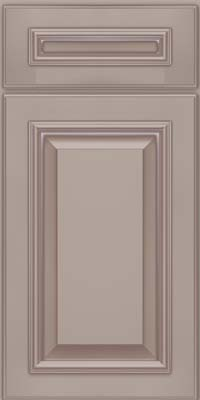 Square Raised Panel - Solid (GRM) Maple in Pebble Grey w/ Coconut Glaze - Base
