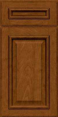 Square Raised Panel - Solid (GRM) Maple in Rye w/Sable Glaze - Base