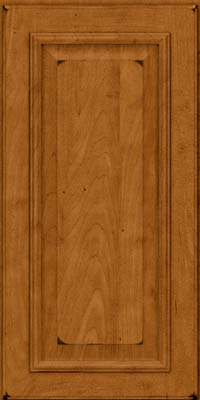Square Raised Panel - Solid (GRM) Maple in Burnished Golden Lager - Wall