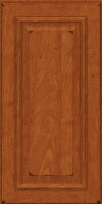Square Raised Panel - Solid (GRM) Maple in Burnished Cinnamon - Wall