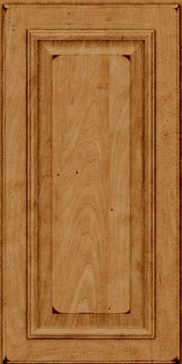 Square Raised Panel - Solid (GRM) Maple in Burnished Ginger - Wall