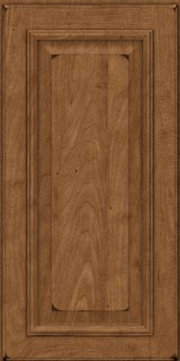 Square Raised Panel - Solid (GRM) Maple in Burnished Rye - Wall