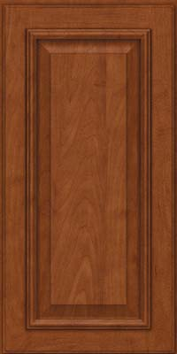 Square Raised Panel - Solid (GRM) Maple in Chestnut - Wall