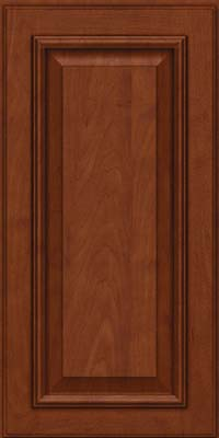 Square Raised Panel - Solid (GRM) Maple in Chestnut w/Onyx Glaze - Wall