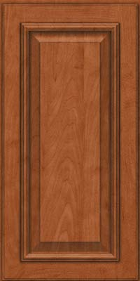 Square Raised Panel - Solid (GRM) Maple in Cinnamon - Wall