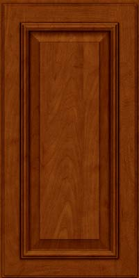 Square Raised Panel - Solid (GRM) Maple in Cinnamon w/Onyx Glaze - Wall