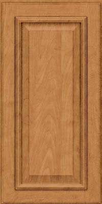 Square Raised Panel - Solid (GRM) Maple in Ginger w/Sable Glaze - Wall