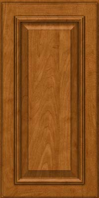 Square Raised Panel - Solid (GRM) Maple in Golden Lager - Wall