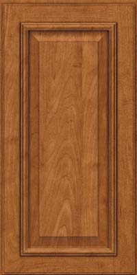 Square Raised Panel - Solid (GRM) Maple in Praline w/Onyx Glaze - Wall