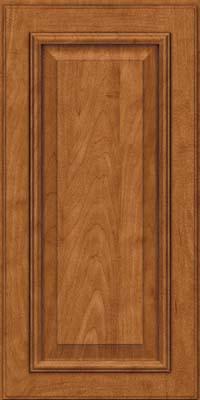 Square Raised Panel - Solid (GRM) Maple in Praline w/Onyx Glaze - Wall