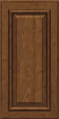 Square Raised Panel - Solid (GRM) Maple in Rye w/Onyx Glaze - Wall