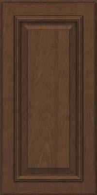 Square Raised Panel - Solid (GRM) Maple in Saddle Suede - Wall