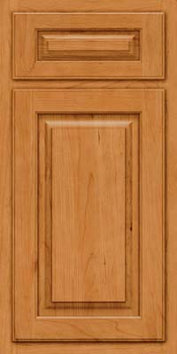 Arch Raised Panel - Solid (TWAC) Cherry in Natural - Base
