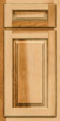 Arch Raised Panel - Solid (TWAH) Hickory in Natural - Base