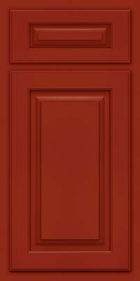 Arch Raised Panel - Solid (TWAM) Maple in Cardinal - Base