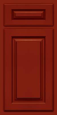 Arch Raised Panel - Solid (TWAM) Maple in Cardinal w/Onyx Glaze - Base