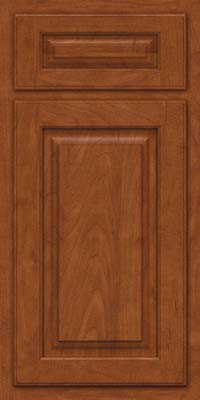 Arch Raised Panel - Solid (TWAM) Maple in Chestnut - Base