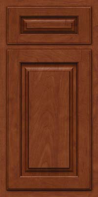 Arch Raised Panel - Solid (TWAM) Maple in Chestnut w/Onyx Glaze - Base
