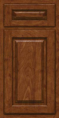 Arch Raised Panel - Solid (TWAM) Maple in Cognac - Base