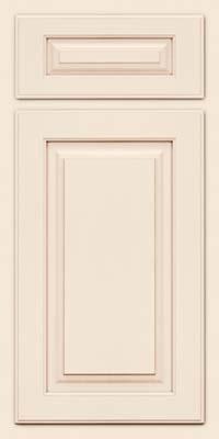 Arch Raised Panel - Solid (TWAM) Maple in Dove White w/Cocoa Glaze - Base