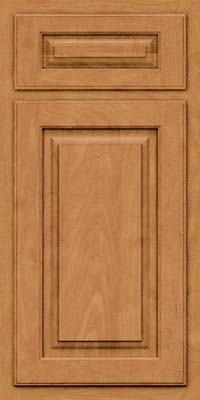 Arch Raised Panel - Solid (TWAM) Maple in Ginger w/Sable Glaze - Base