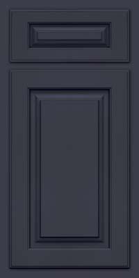 Arch Raised Panel - Solid (TWAM) Maple in Midnight w/ Onyx Glaze - Base