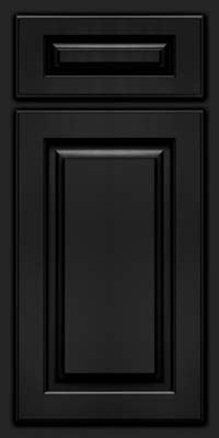 Arch Raised Panel - Solid (TWAM) Maple in Onyx - Base