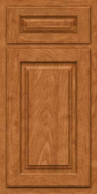 Arch Raised Panel - Solid (TWAM) Maple in Praline w/Mocha Highlight - Base