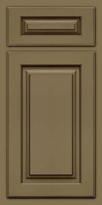 Arch Raised Panel - Solid (TWAM) Maple in Sage w/Cocoa Glaze - Base