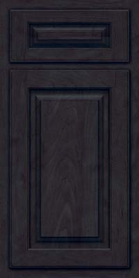 Arch Raised Panel - Solid (TWAM) Maple in Slate - Base