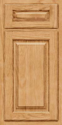 Arch Raised Panel - Solid (TWAO) Oak in Natural - Base