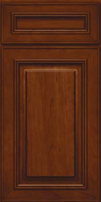 Square Raised Panel - Solid (AA0C) Cherry in Autumn Blush - Base