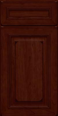 Square Raised Panel - Solid (AA0C) Cherry in Burnished Cabernet - Base
