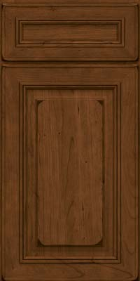 Square Raised Panel - Solid (AA0C) Cherry in Burnished Rye - Base
